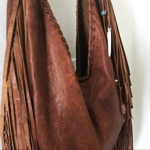 00aa5f9dfc4e Free People Bags - Free People Willow Fringe Hobo Bag in Brown